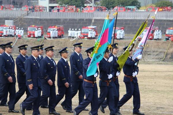 出初式消防制服、旗