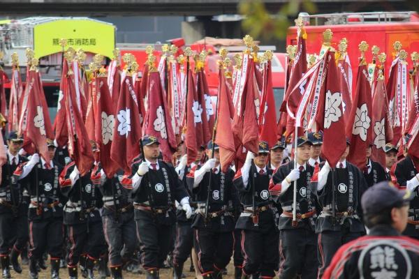 28年度熊本市消防出初式法被分団旗