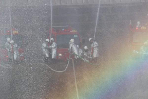 消防団放水合戦