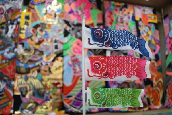 鯉のぼり武者のぼり展示