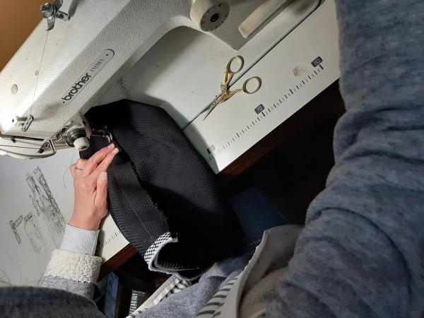 刺子消防法被縫製